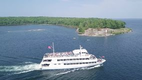 Parry Sound, Ontario. Island Queen Cruise stock video