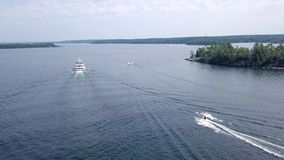 Parry Sound, Ontario. Island Queen Cruise stock video footage