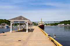 Parry Sound Town Dock Stock Photography