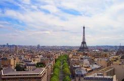 París en agosto Fotos de archivo libres de regalías