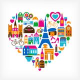 Pars Love - Vector Illustration With Set Of Icons Stock Photos
