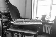 Parsed piano repair Royalty Free Stock Images