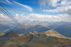Parsenn在达沃斯,瑞士 免版税库存图片