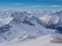 Alps mountains above Davos Royalty Free Stock Image