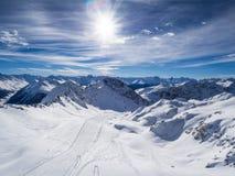 Alps mountains above Davos Stock Image