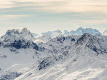 Alps mountains above Davos Royalty Free Stock Photography