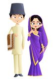Parsi Wedding Couple. Easy to edit vector illustration of Parsi wedding couple Stock Images