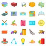 Parsimony icons set, cartoon style. Parsimony icons set. Cartoon set of 25 parsimony vector icons for web isolated on white background Royalty Free Stock Photo