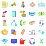 Parsimony icons set, cartoon style. Parsimony icons set. Cartoon set of 25 parsimony vector icons for web isolated on white background Stock Images