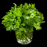 Parsley aromatic herb in glass Stock Photo