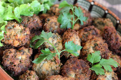 Parsley balls with white pepper Royalty Free Stock Photography