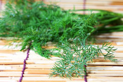 Parsley  on bamboo plate Stock Photo