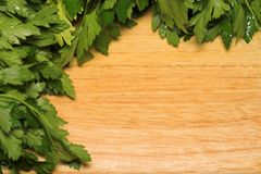 Parsley on board Royalty Free Stock Photos