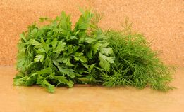 Parsley and celery Stock Photos