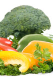 Parsley and fresh vegetables Royalty Free Stock Photo