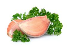 Parsley and garlic Royalty Free Stock Photo