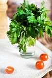 Parsley in the glass Royalty Free Stock Photo