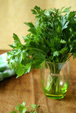 Parsley in a glass, fresh greens Royalty Free Stock Photography