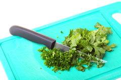 Parsley isolated on board Royalty Free Stock Image