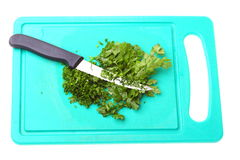 Parsley isolated on board Stock Image