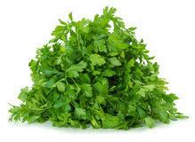 Parsley leaves isolated on white background Stock Photos