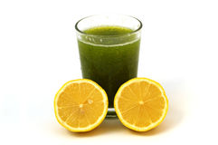 Parsley and lemon juice to oil calore Stock Photography