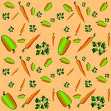 Parsley, peppers, carrots. vector illustration