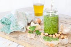 Parsley Pesto Condiment Stock Photo