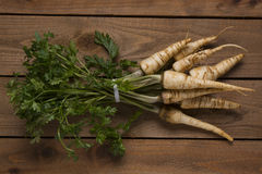 Parsley root with leaves Stock Photo