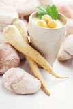 Parsley-root soup Royalty Free Stock Photos