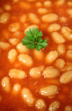 Parsley In A Sea Of Baked Beans Stock Photos