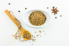 The parsley seed spices on white background. Stock Images