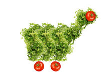Parsley shopping cart Stock Photography