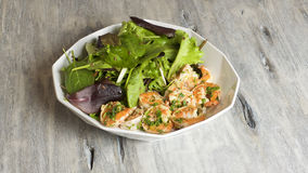 Parsley shrimp salad Royalty Free Stock Photos