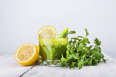 Parsley smoothie Royalty Free Stock Images