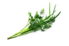Parsley, spring onions Stock Photography