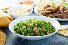 Free Parsley Tabbouleh With Tomato And Cous Cous Royalty Free Stock Image - 147885006
