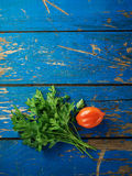 Parsley and tomato Royalty Free Stock Images