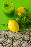 Parsley vegetable drink Royalty Free Stock Images
