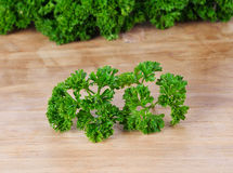Parsley on wood background Royalty Free Stock Photos