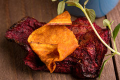 Parsnip and beet chips Stock Photography