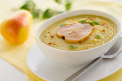 Parsnip cream soup Royalty Free Stock Image