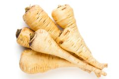 Parsnip isolated on the white background. Stock Photo