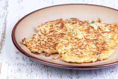 Parsnip pancakes Stock Image