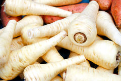 Parsnip pile Stock Photo