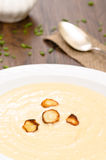 Parsnips with cream soup Royalty Free Stock Photos