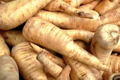 Parsnips for sale in the market Stock Photography