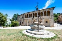 Parsonage kościół San Biagio blisko Montepulciano, Włochy obraz royalty free