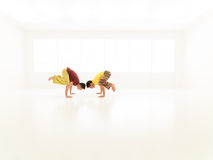 Parsva bakasana yoga partners Royalty Free Stock Photos