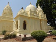Parsvanath, Adinath, Shanti Nath, Oostelijke groep tempels, Khajuraho, Madhya Pradesh, India, bekend eroticheskim ontwerp van stock afbeelding